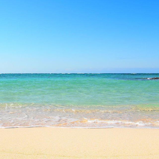 天気がよくて砂浜も海も空もいい感じでしたよ。