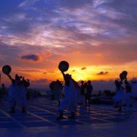 与論島で見る夕焼け