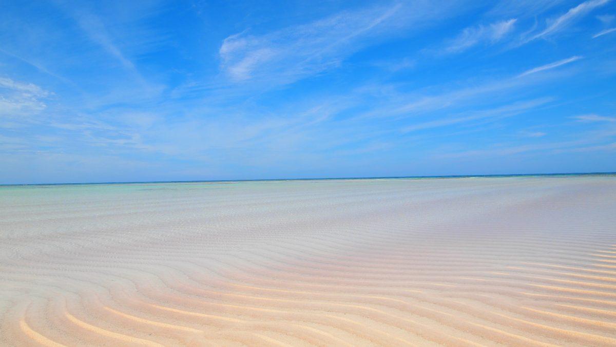 百合ヶ浜の砂紋、やや涼しげ