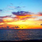 夕日が見えなくても素敵な夕焼け