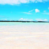 百合ヶ浜から与論を眺める