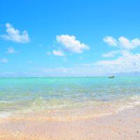 9月30日の大金久海岸。天気が良くてキラキラしてました。