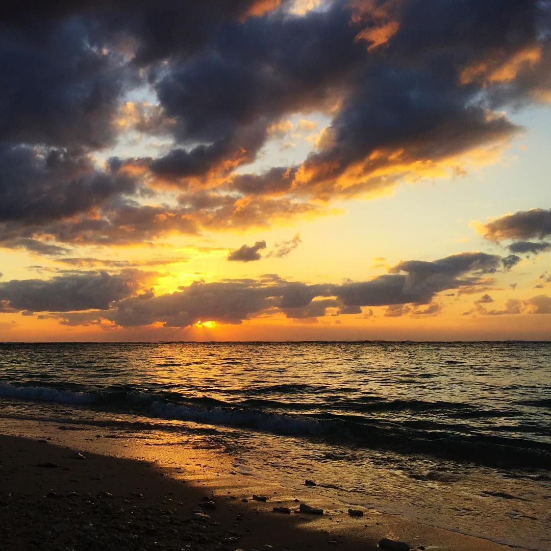 ヨロンマラソン前日の夕焼け