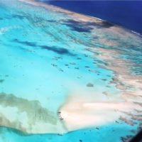 飛行機から見る百合ヶ浜あたり。