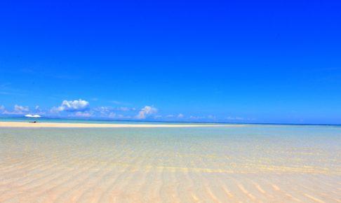 百合ヶ浜にパラソル