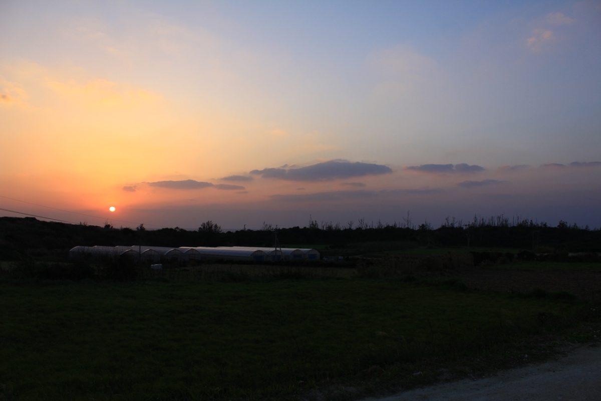 夕日が沈むよ!
