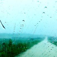 与論島 50年に一度の大雨