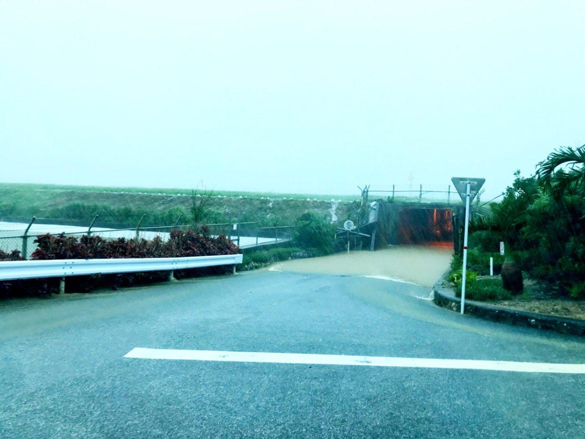 大雨でトンネル危うし