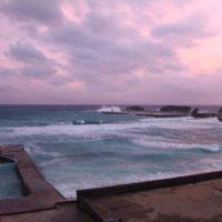 台風でした与論島