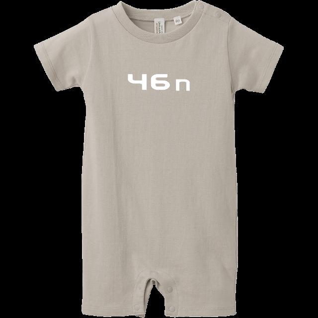 46nロンパース 杢グレー