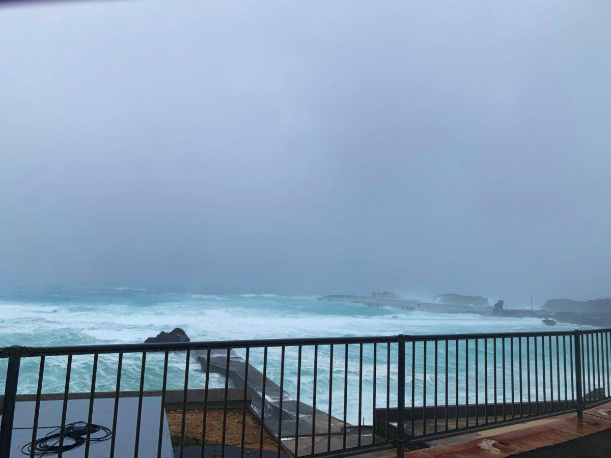台風来てます!